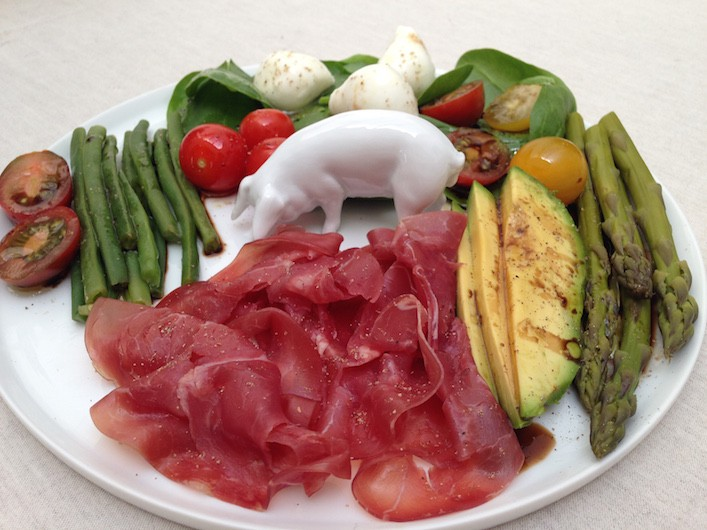 Assiette à l'italienne