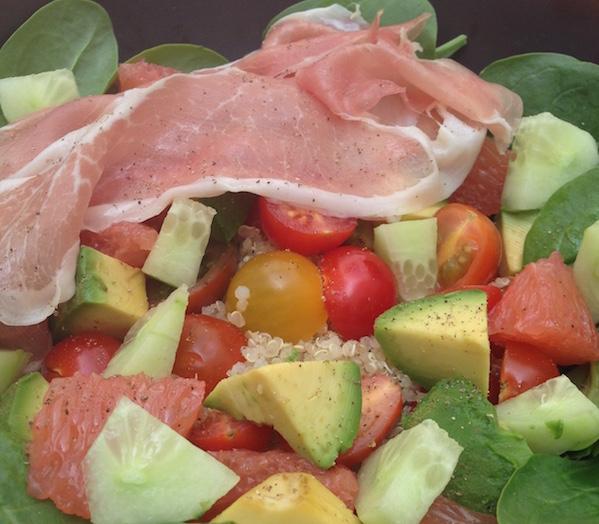 Salade Punchy au Jambon de Montagne