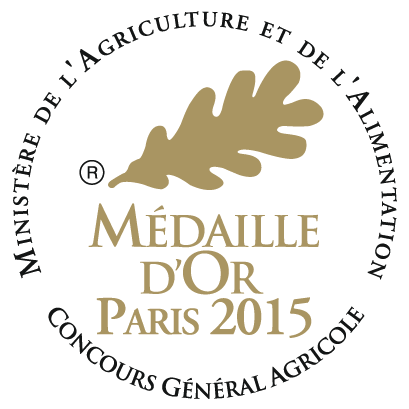 Concours General Agricole - Medaille d'or Paris 2015